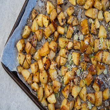 Garlic and Soy Roasted Potatoes 350x350