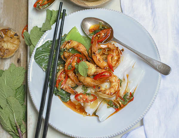Grilled Prawn  Vegetarian SF SAuce