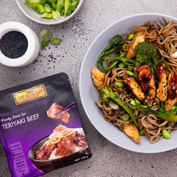 Teriyaki Chicken  Broccolini Soba Noodles